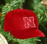 Nebraska Cornhuskers Baseball Cap Ornament