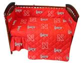 Nebraska Cornhuskers Baby Crib Set
