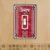 Nebraska Cornhuskers Art Glass Switch Cover