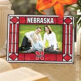 Nebraska Cornhuskers Art Glass Horizontal Picture Frame