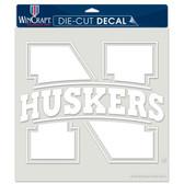 "Nebraska Cornhuskers 8""x8"" Die-Cut Decal"