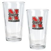 Nebraska Cornhuskers 2pc Pint Ale Glass Set
