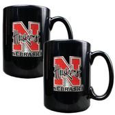 Nebraska Cornhuskers 2pc Coffee Mug Set