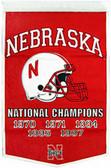 "Nebraska Cornhuskers 24""x36"" Football Wool Dynasty Banner"