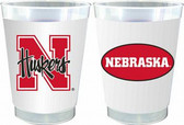 Nebraska Cornhuskers 10 oz. Frosted Cups