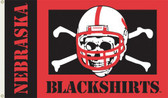 Nebraska (Blackshirts) 3 Ft. x 5 Ft. Flag w/Grommets