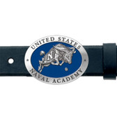 Navy Midshipmen Mascot Logo Belt Buckle