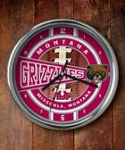 Montana Grizzlies Chrome Clock