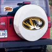 Missouri Tigers White Tire Cover, Large