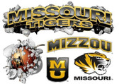 Missouri Tigers Wallcrasher Wall Decal - Multi Logo 5'
