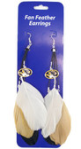 Missouri Tigers Team Color Feather Earrings