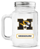 Missouri Tigers Mason Jar Glass With Lid