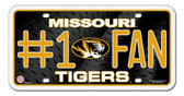 Missouri Tigers License Plate - #1 Fan