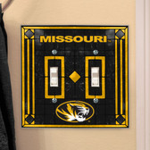 Missouri Tigers Double Lightswitch Cover