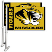 Missouri Tigers Car Flag w/Wall Bracket Set Of 2