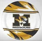 "Missouri Tigers 9"" Dinner Paper Plates"