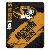 Missouri Tigers 50x60 Fleece Blanket - College Painted Design