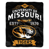 "Missouri Tigers 50""x60"" Royal Plush Raschel Throw Blanket -  Label Design"