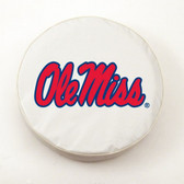 Mississippi Rebels White Tire Cover, Small
