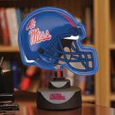 Mississippi Rebels Neon Helmet Desk Lamp