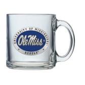 Mississippi Rebels Logo Clear Coffee Mug Set