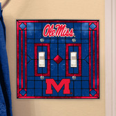 Mississippi Rebels Double Lightswitch Cover