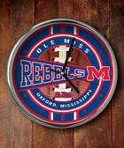 Mississippi Rebels Chrome Clock