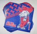 Mississippi Rebels Beverage Napkins