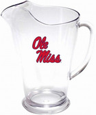 Mississippi Rebels 64 oz. Crystal Clear Plastic Pitcher