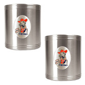 Mississippi Rebels 2pc Stainless Steel Can Holder Set