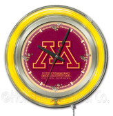 Minnesota Gophers Neon Clock