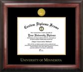 Minnesota Golden Gophers Gold Embossed Medallion Diploma Frame