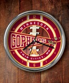 Minnesota Golden Gophers Chrome Clock