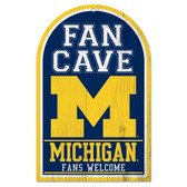 Michigan Wolverines Wood Sign - Fan Cave