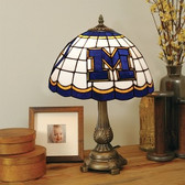 Michigan Wolverines Tiffany Table Lamp