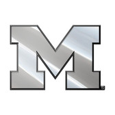 Michigan Wolverines Silver Auto Emblem