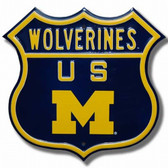 Michigan Wolverines Route Sign