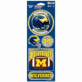 Michigan Wolverines Prismatic Stickers