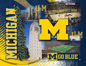 Michigan Wolverines Printed Canvas