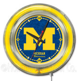 Michigan Wolverines Neon Clock