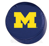 Michigan Wolverines Navy Tire Cover, Large