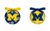 Michigan Wolverines LED Box Set Ornaments
