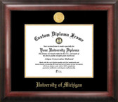 Michigan Wolverines Gold Embossed Diploma Frame