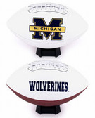 Michigan Wolverines Full Size Embroidered Football