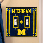 Michigan Wolverines Double Lightswitch Cover