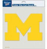 "Michigan Wolverines Die-Cut Decal - 8""x8"" Color"