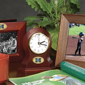 Michigan Wolverines Desk Clock