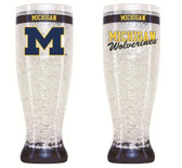 Michigan Wolverines Crystal Pilsner Glass