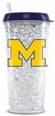 Michigan Wolverines Crystal Freezer Travel Tumbler