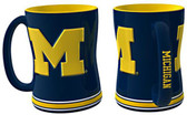 Michigan Wolverines Coffee Mug - 15oz Sculpted